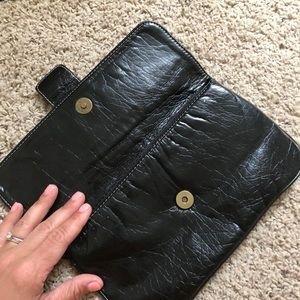 Shiraleah Bags - Black Clutch with brass clasp